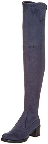 Buffalo London Damen 2865 Micro Strech Stiefel, Grau (Antracite 01), 39 EU