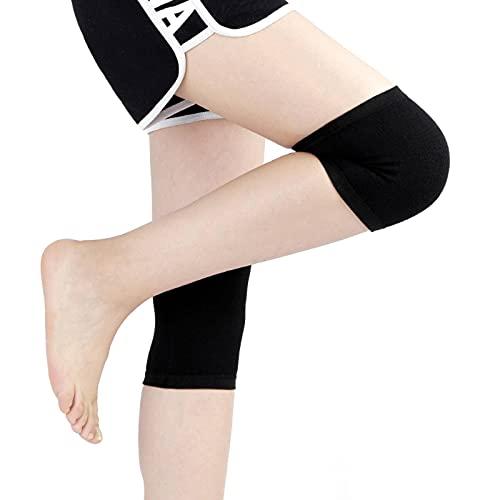N\C Rodilleras de punto cálidas de color sólido de lana ligeras cuatro estaciones deportivas rodilleras