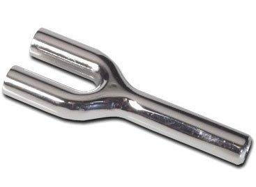 Röhrchen aus Metall, Double Snorter,Doppel Rohr, Länge 70mm