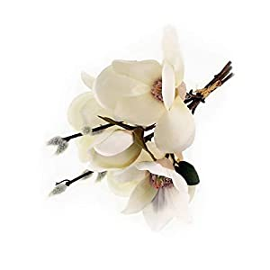 Crafty Capers 30cm Cream Magnolia & Pussy Willow Short Artificial Fabric Flower Bunch
