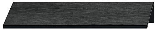 Gedotec Möbelgriff Küche Kantengriff Schubladengriff - PALMA | Aluminium schwarz eloxiert | Schrank-Griff Länge 70 mm | Türgriff für rückseitige Verschraubung | 1 Stück - Griffleiste Alu mit Schrauben