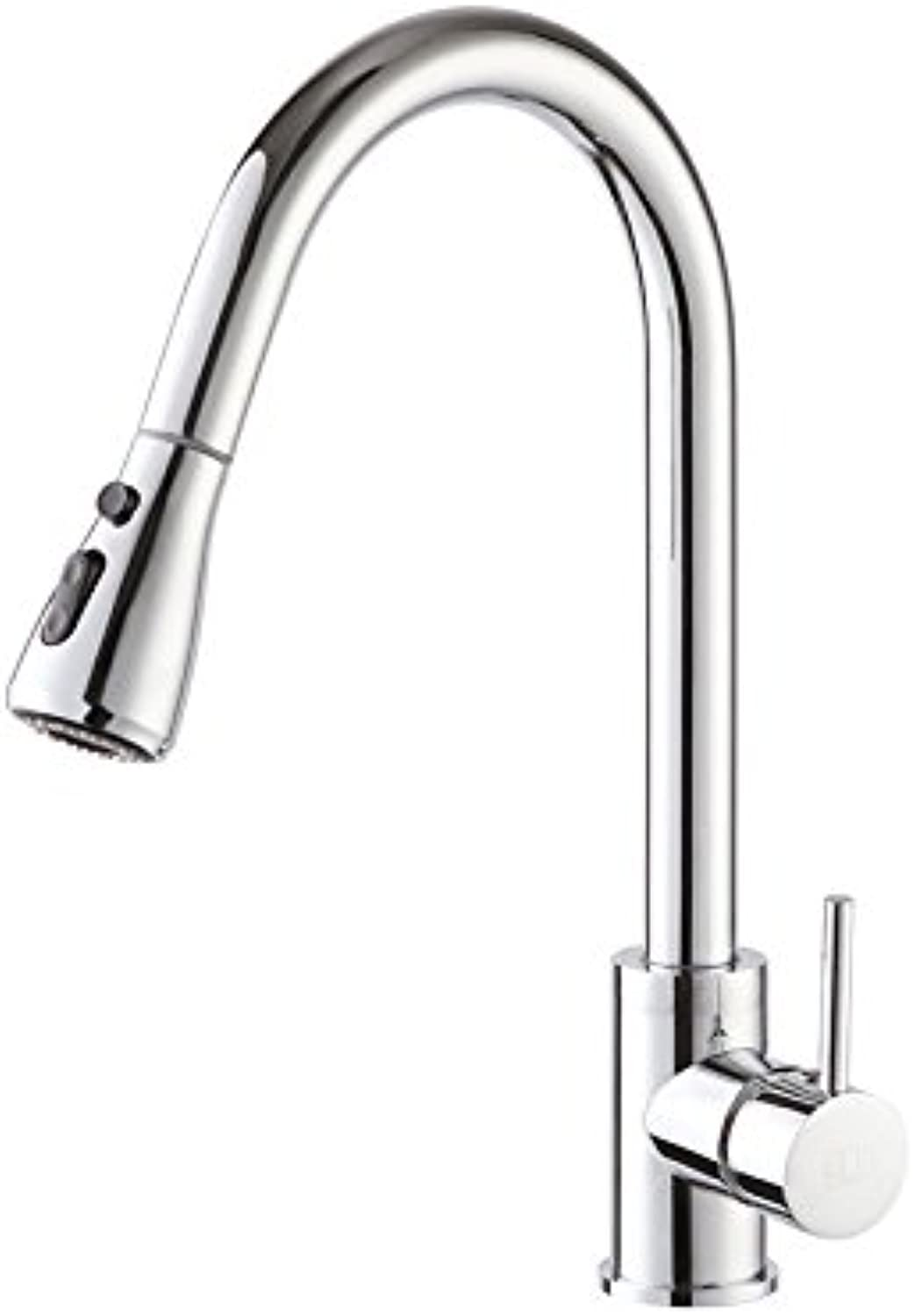 Bijjaladeva Antique Bathroom Sink Vessel Faucet Basin Mixer Tap Kitchen faucet pull-out of the water turn hot and cold plating