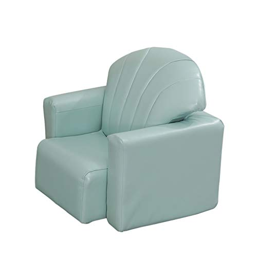 MWY Sessel Multifunktion Kindersofa Sessel Kleinkindermöbel Kortex Kombination Mini-Sofa Kinderstuhl Holzrahmen 50X44x48cm (Color : Green)