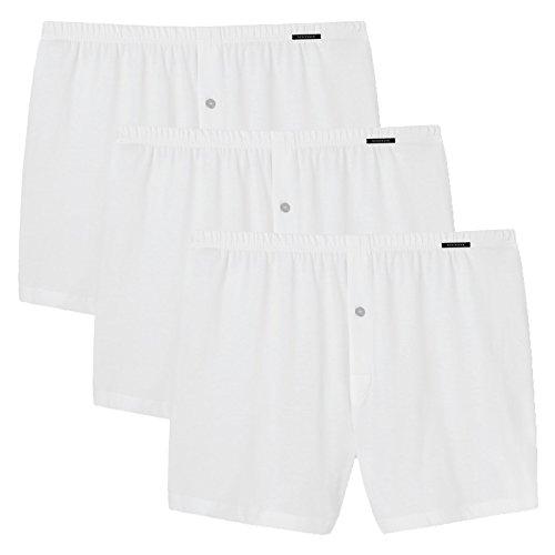 Schiesser 3er Pack Herren Boxershorts, Jersey Cotton, Uni, M-4XL (Weiß, L (Gr. Large))