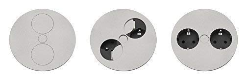 Steckdose Twist für Arbeitsplatten versenkbar Doppelsteckdose Kinderschutz Energiebox Küchensteckdose *540273