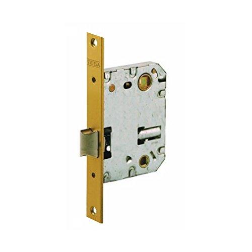 Tesa Assa Abloy 134U50HL Picaporte Unificado Para Puertas de Madera Latonado Entrada 50 mm, Frente Cuadrado 134U