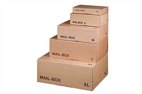 Mail-Box S, braun, 249x175x79 mm Versandkarton Postversandkarton 20 Stück