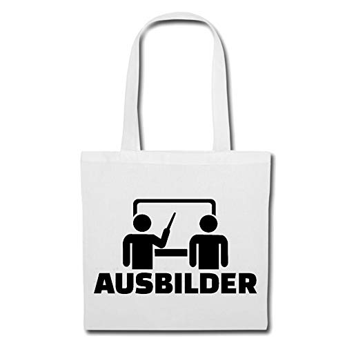 Tasche Umhängetasche Ausbilder - FACHAUSBILDER - AUSBILDUNGSBETRIEB - LEHRLING - PRAKTIKUM Einkaufstasche Schulbeutel Turnbeutel in Weiß