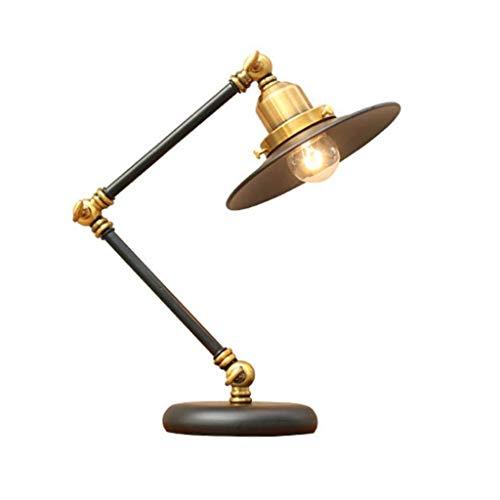 ZLMAY Balanceo de los Brazos de luz, LED de Ahorro de energía, el Cuidado de los Ojos-Lectura Mesa de luz, lámpara de Escritorio de latón Antiguo, for estudiar, Trabajar, Leer