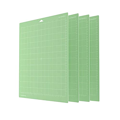 """AUTIDEFY 4 Pack Cutting Mats 12""""x12"""" Cutting Mats Replacement Accessories Non-Slip Square Gridded Cut Mats Replacement for Crafts Sewing and All Arts (Green)"""