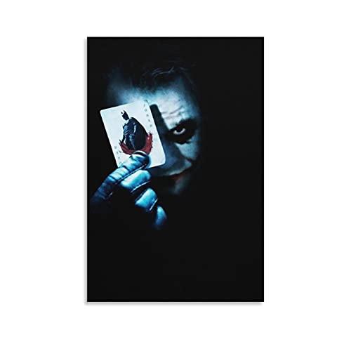 Póster de película de caballero oscuro con texto en inglés «He Dark Knight Joker» para decoración de la sala de estar, dormitorio, estilo unframe-style116 × 24 pulgadas (40 × 60 cm)
