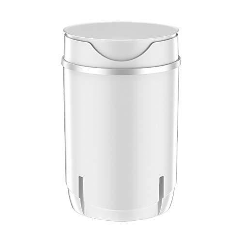 XIARI Mini Waschmaschine mit Schleuder | Waschautomat bis 2 KG | Reisewaschmaschine | Miniwaschmaschine | Camping Mobile Waschmaschine | Toploader |,White