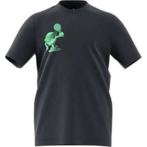 adidas Cat Logo tee K Camiseta, Unisex niños, Carbon, 152