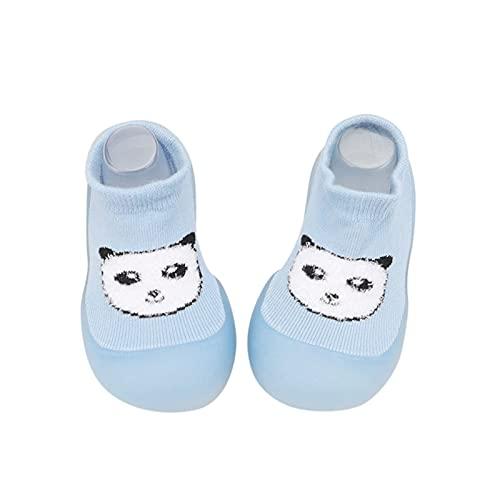 YWLINK Calcetines De Piso para Bebé,Suela De Goma Antideslizante Calcetines De Paso para Bebé De Punto Suave Zapatos De Piso para Niños Y Niñas,Calcetines De Piso con Pantuflas para Interiores