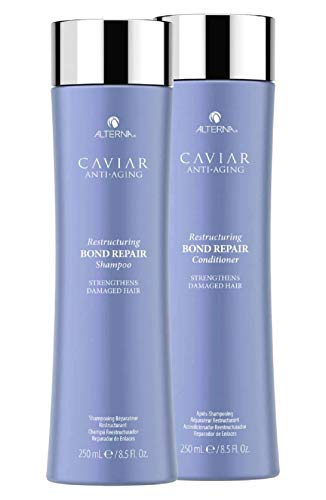 Caviar By Henkel Alterna Caviar Anti-Aging Restrukturierung Bond Repair Shampoo & Conditioner Duo Set, Stärkt strapaziertes Haar (Stylist Kit) (8,5 oz / 250 ml Duo Kit)