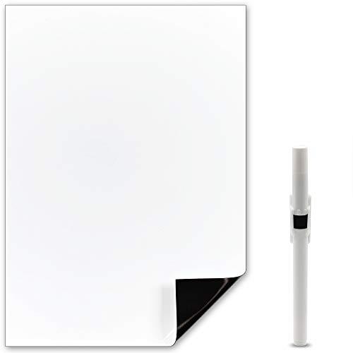 The Magnet Shop Whiteboard-Magnet in A4 – Für Notizen oder zur Planung von Mahlzeiten. Ideal für Zuhause, die Küche oder das Büro