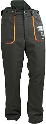 Oregon Typ A Klasse 1 (20 m/s) Yukon leichte Schnittschutzhose für Herren, Bundhose, für Arbeiten mit der Kettensäge, schwarz, Größe L (50-52), 295437
