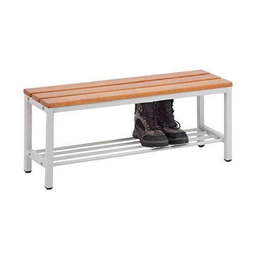 Master of Boards Sitzbank mit Schuhablage ohne Lehne - Robuste Umkleidebank aus Buchenholz | für Schule, Sport-Verein, Fitnessstudio | Verschiedene Größen (150 cm Breite)