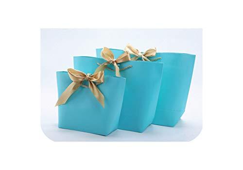 De gran tamaño Oro Actual rectángulo por pijamas ropa Libros Packaging Oro control del cuadro de papel Kraft Bolsas de papel de regalo bolsa con asas ene-T,21X15X 7Cm