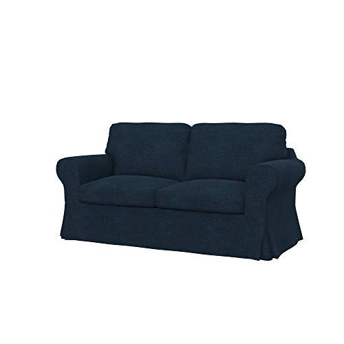 Soferia Funda de Repuesto para IKEA EKTORP sofá de 2 plazas, Tela Strong Denim, Azul