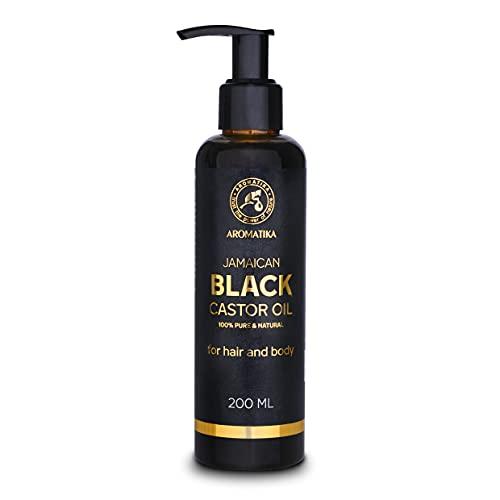 Aceite de Ricino Negro Jamaicano - 200ml - Ricinus Communis - Aceite de Ricino - Aceite para la Piel - Uсas - Labios - Aceite para el Cabello - Aceite Corporal - Aceite Facial - Aceite de Baсo