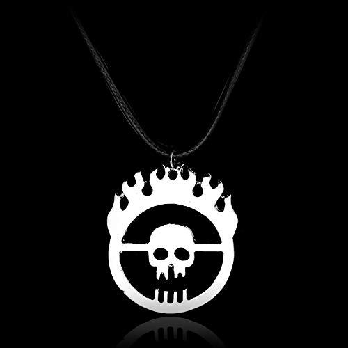 YUNMENG Mad Max Fury Road Joe Schädel Gang inspirierte Anhänger Halskette für Männer Hochwertige Klassische Schmuck Halskette