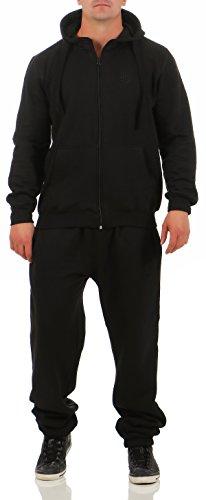 9t5 Jogginganzug Herren Jogger Trainingsanzug Sportanzug Suit 2-teilig schwarz M