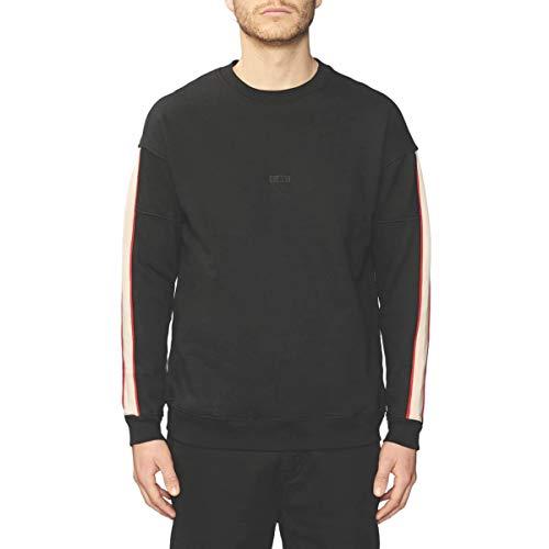 Globe Magnified Crew Sweatshirt Homme, Noir, XL