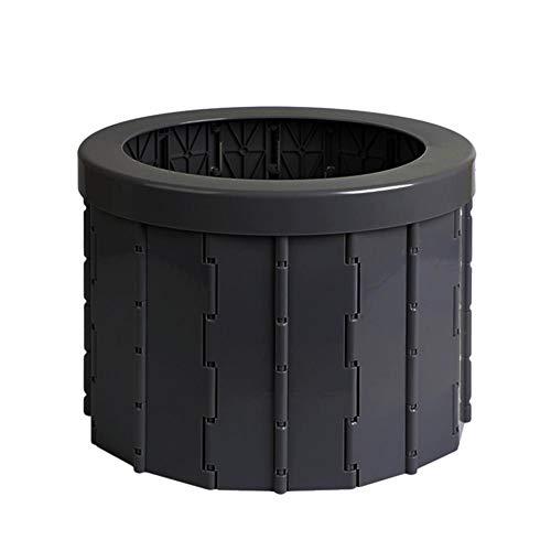 Ridecle Camping Toiletten Tragbare Faltbare Toilette für Camping/Auto Reisen Toilettensitz für Erwachsene Männer/Frauen/Kleinkinder/Ältere - Auch als Hocker, Mülleimer, Aufbewahrungsbox verwenden