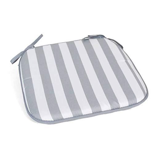 CABLEPELADO Cuscino a righe per sedia, 40 x 40 cm, grigio/bianco