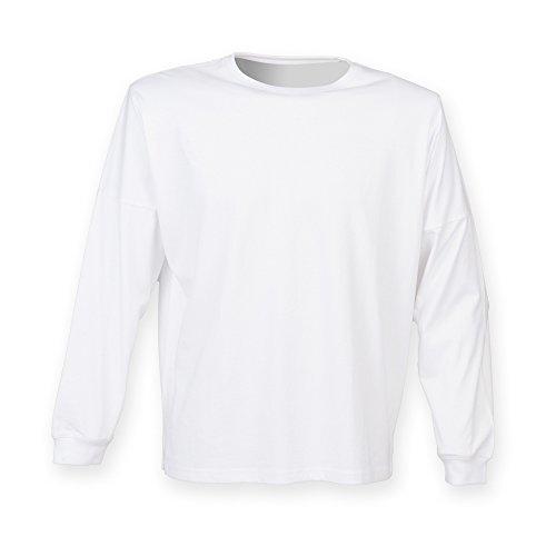 Skinni Fit - Haut à manches longues - Homme (2XL) (Blanc)