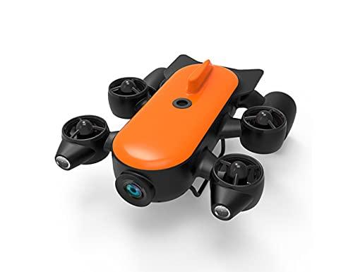 DSYADT Robot Subacuático Cámara Subacuática Portátil 4K Drone Velocidad Máxima 6.6 Pies/S Perspectiva VR Gran Angular Movimiento De Inmersión 120 Metros Duración De La Batería Súper Larga 120 Grados