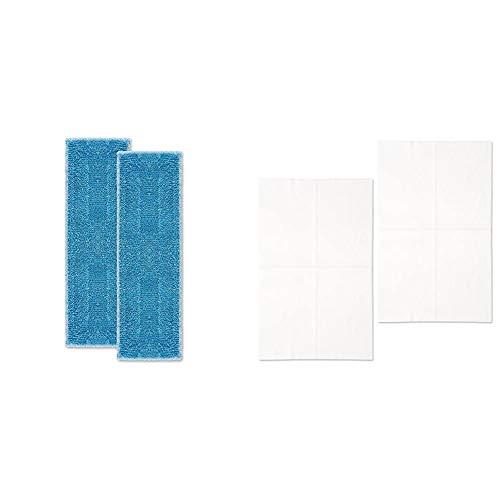 Polti Moppy PAEU0342 Kit de 2 Paños para la Limpieza de Todo Tipo de pavimentos y Superficies Verticales + Moppy PAEU0346 Kit de 20 paños electrostáticos XXL