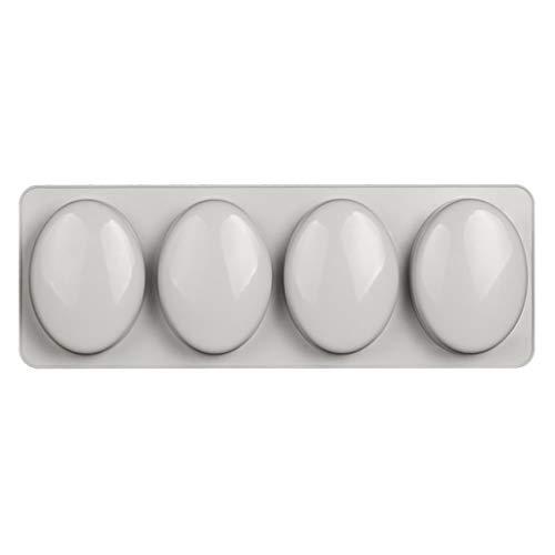HR-COME - Moule De Savon En Silicone 3D Ovale En Forme De 4 Cavités, Outil De Cuisson Pour Moule à Biscuits Au Chocolat à La Main De Bricolage Artisanal