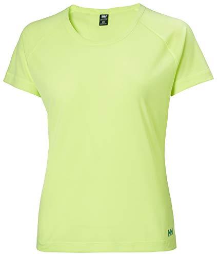 Helly Hansen W Verglas Pace T-Shirt Camiseta, Mujer, Verde Oscuro, M
