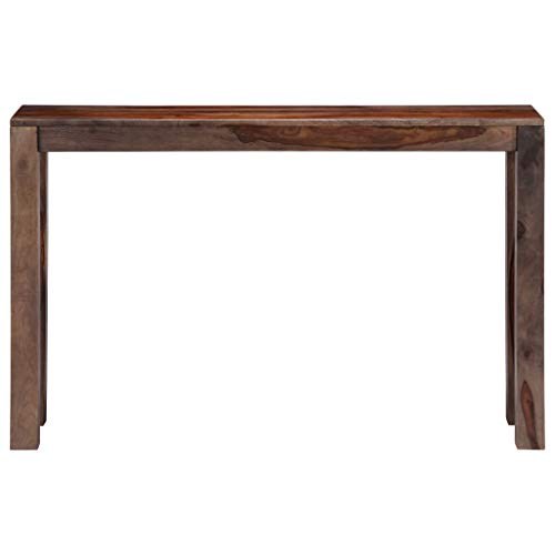 Tidyard Konsolentisch Grau 120×30×76 cm Sheesham Massivholz Wood Console Table Rosewood Side Table Sideboard Hallway Table Telephone Table