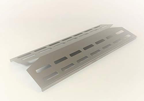 EWH Edelstahl Brennerabdeckungen 39,5 x 16,5 cm für z.B. Landmann Triton 2 & 3 aus hochwertigem Edelstahl 1.4301 / V2A