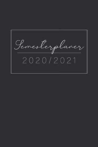 Semesterplaner 2020/2021: Uniplaner, Studienplaner, Studentenkalender von März 2020 bis April 2021 - 1 Woche 2 Seiten • Vorlesungsplan für SS und WS, ... und Notizen • Schwarzes Cover Design