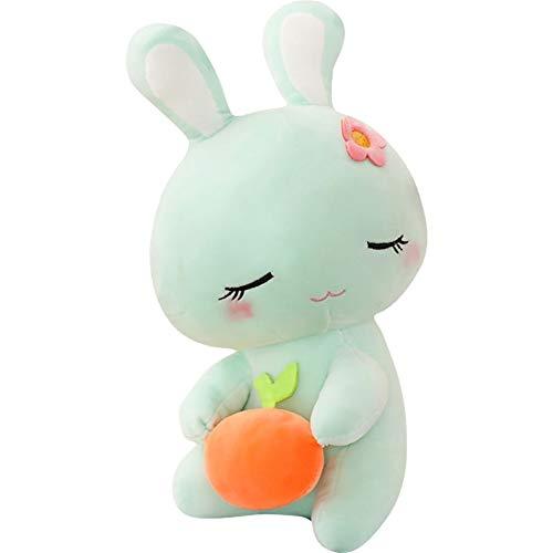 47-B Little Rabbit Plüsch Rosa, Weiß, Grün, Lila Kissen Mit Weichen Kissen Gefüllt Und Schöne Mini-Simulation Spielzeug (Color : Green, Size : Small)