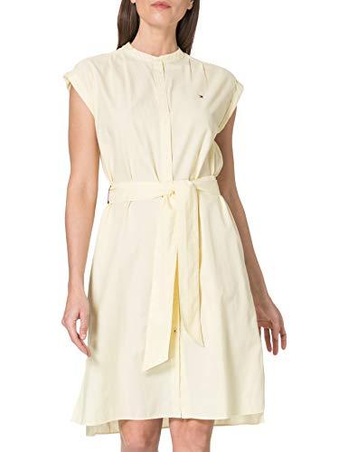 Tommy Hilfiger Oxford Knee Shirt Dress NS Vestido Informal, Amarillo, 36 para Mujer