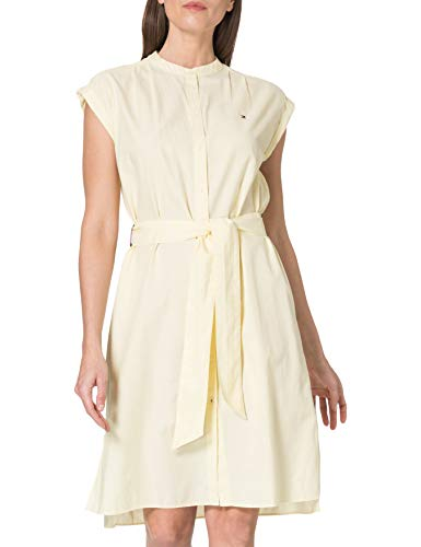 Tommy Hilfiger Oxford Knee Shirt Dress NS Vestido Informal, Amarillo, 42 para Mujer