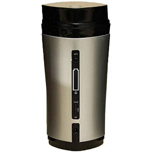 WJH9 Smart-Kaffeetasse, USB Electronic Display Lade- und Heizung automatische Mischkaffeetasse, USB-Schnittstelle Universal-Legierung Liner tropft, Silber