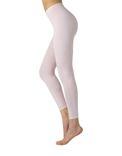 Shaper Anticellulite Pyjama | Figurformende Anti Cellulite Massage Schlafanzughose | Rosa | S/M, L/XL | Made in Italy (S/M, Rosa)