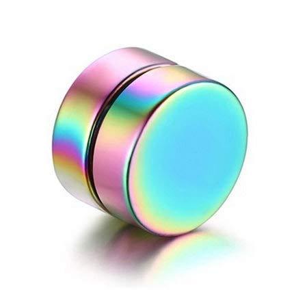 Pendientes Pendiente 1Piece Unisex Punky imán Fuerte del oído del Perno Prisionero magnético 6 mm Piercing Pendientes Regalo no (Oro) Individualidad (Color : Multicolor)