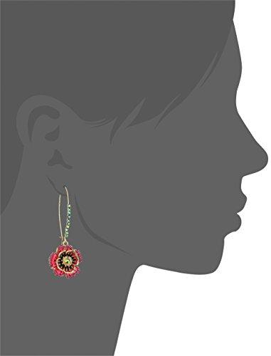 Betsey Johnson Rose Dangle Earring