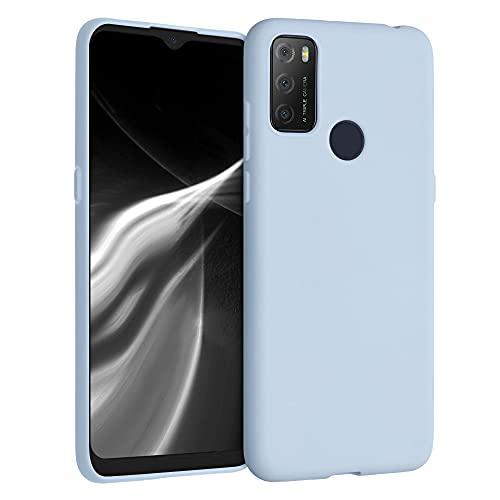 kwmobile Hülle kompatibel mit Alcatel 1S (2021) - Hülle Silikon - Soft Handyhülle - Handy Hülle in Hellblau matt