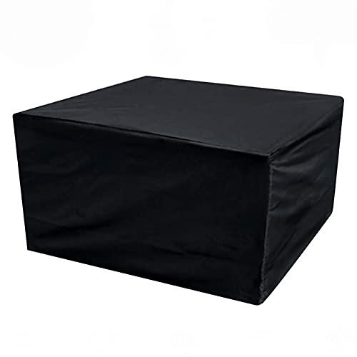 WXZX Fundas Muebles Jardin Exterior Impermeable, Cubiertas Mesas Y Silla, 420D Oxford Prueba Viento, Protectoras contra Rayos Ultravioleta,Cubierta De Muebles Interior Y Exterior Negro