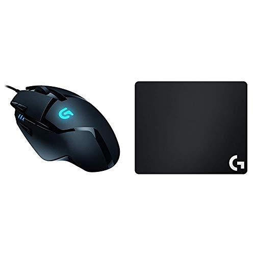 Logitech G402 Gaming-Maus Hyperion Fury (mit 8 programmierbaren Tasten) + Logitech G240 Gaming Mousepad