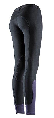 Equi-Theme/Equit'M 979060206 - Pantaloni da Equitazione, Unisex, Taglia Unica, Colore: Nero/Viola