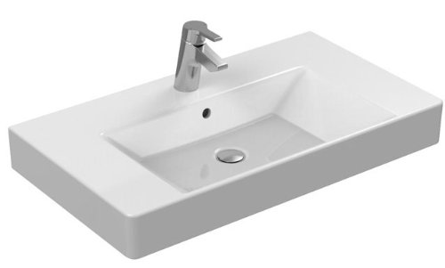 Ideal Standard Furniture Waschbecken Strada K0787MA, weiß Ideal Plus, B: 710, T: 455, 1 gelocht Loch-Wäschekorb